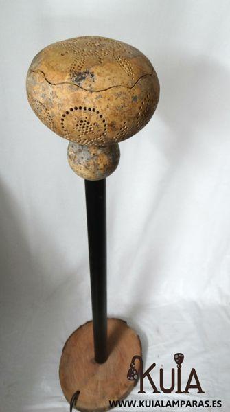 lampara de suelo artesanal mara