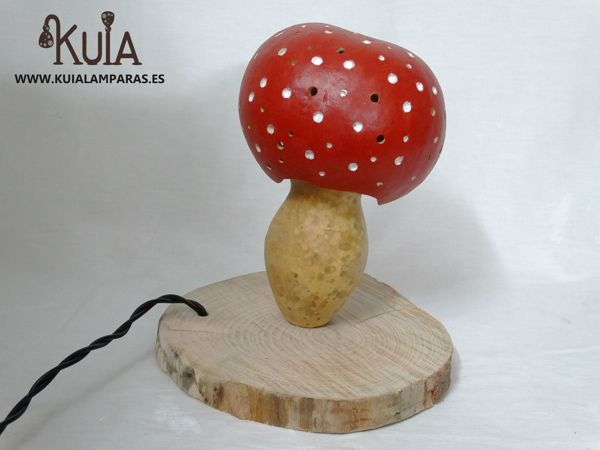 lampara para niños amanita