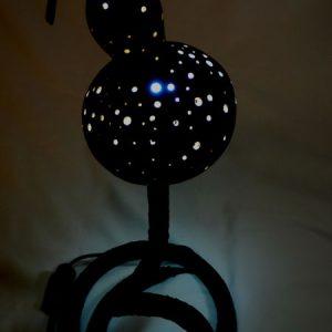 lampara de decoracion serp black