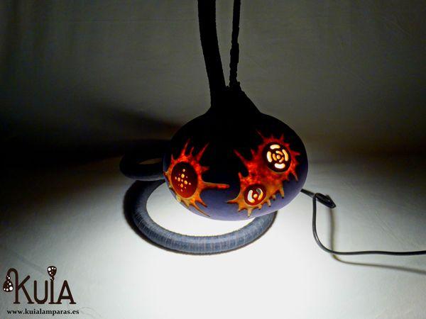 lampara de decoracion artesanal boom