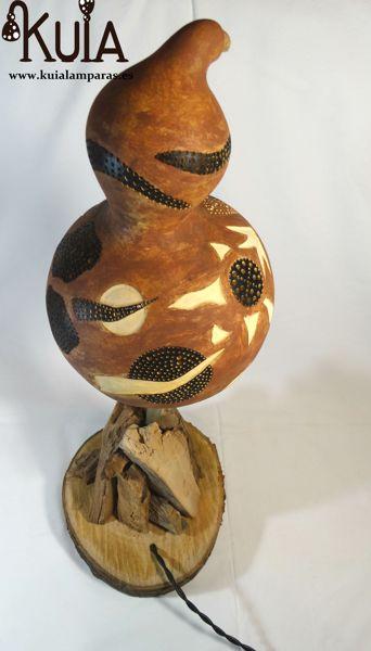lampara de madera de diseño strom