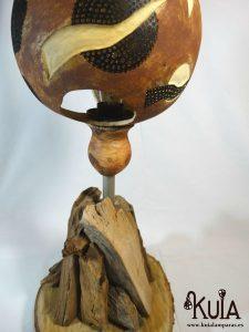 lampara artesanal de madera strom