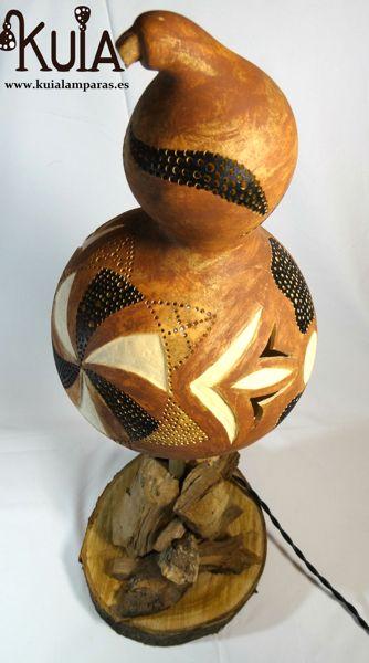 lampara de mesilla de madera strom