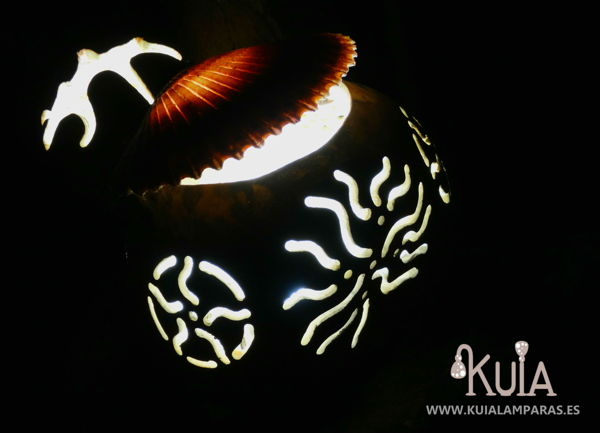 lampara de decoracion artesanal korua