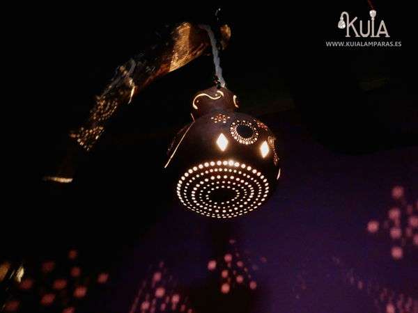 lampara de madera rustica korua