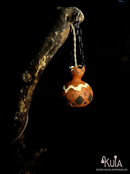 lampara con tronco rustica korua