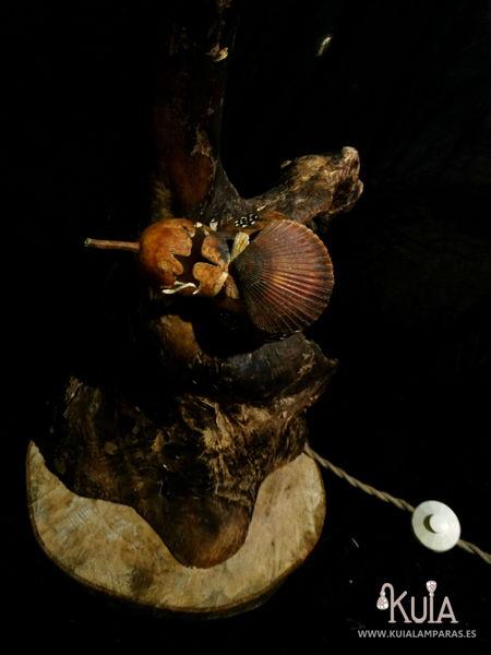 lampara de pie rustica korua