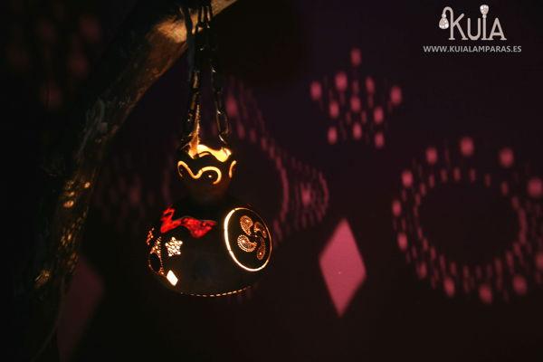 lampara artesanal decorativa korua
