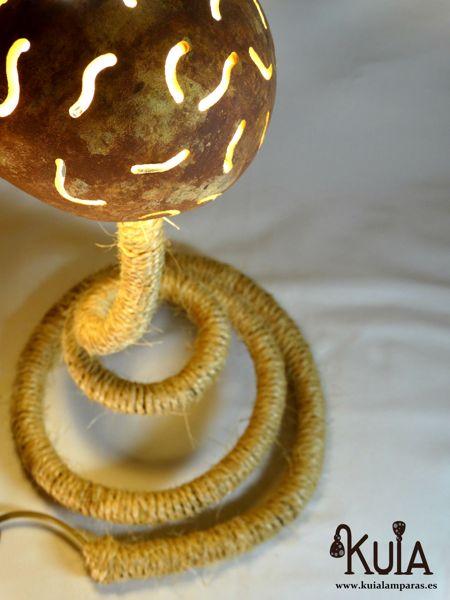 lampara para decoracion ecologica serp rayas