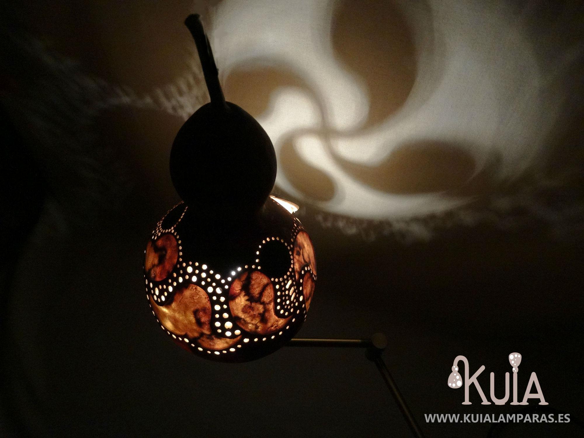 lampara decorativa ambiental lauburu2