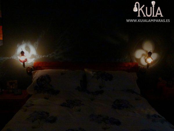 lamparas de pared rusticas de sobrecama