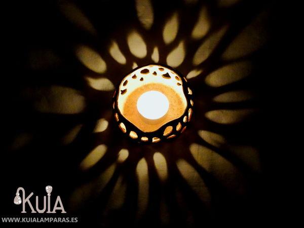 portavelas iluminacion ambiental sua
