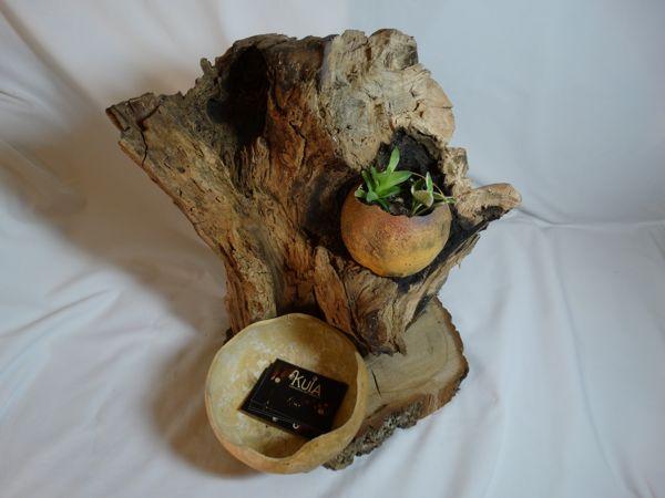Macetero de madera artesanal kuia l mparas - Tiestos de madera ...
