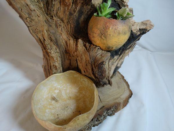 Tiestos artesanales kuia l mparas - Tiestos de madera ...