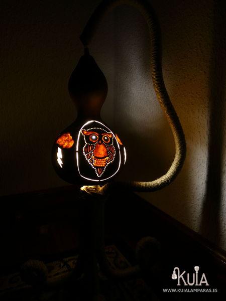 lampara oon buho diseñada hontzargi