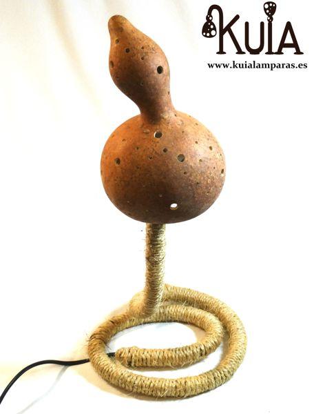 lampara de mesa ecologica serp puntos