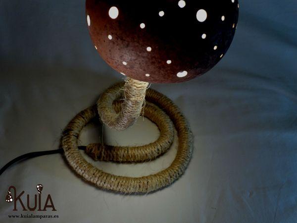 lampara de mesilla para bares rusticos serp puntos