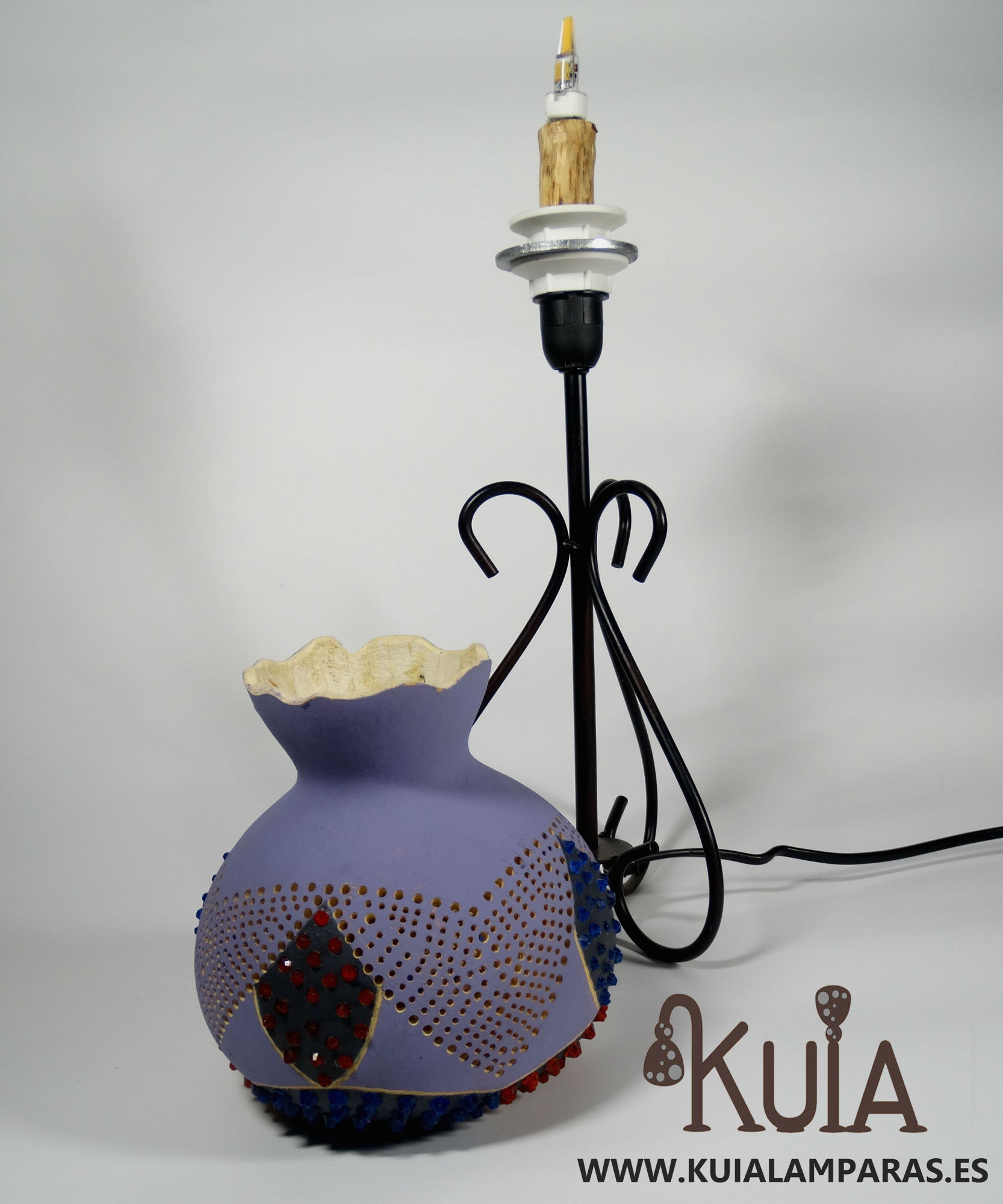 lampara de mesilla artesanal eros