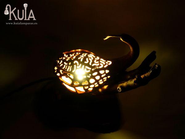lampara de madera korn