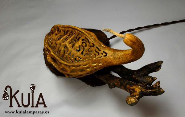 lampara de mesa rustica korn