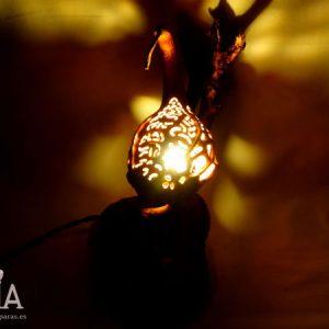 lampara rustica de madera korn