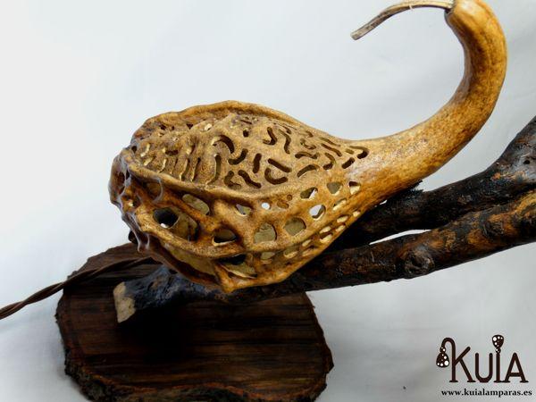 lampara de madera de diseño korn