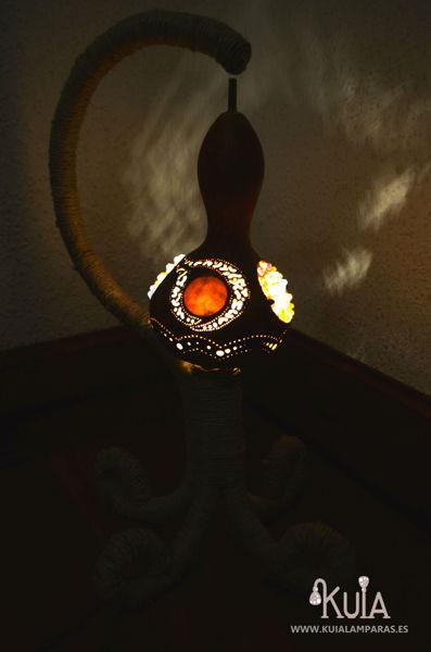 lampara de interiorismo rustico wornmoon