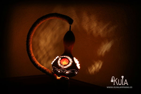 lampara artesanal para interiores wornmoon