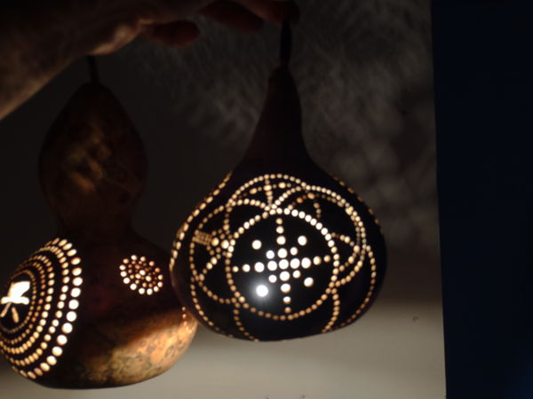 lampara tallada unica plafonos