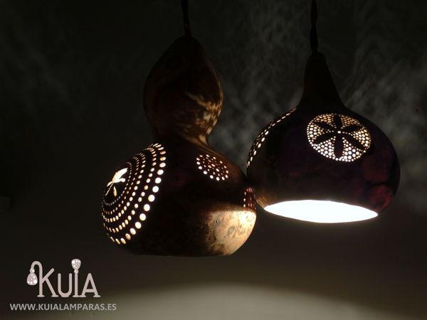 lampara de calabaza tallada plafonos