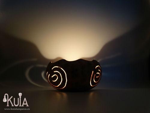 portavelas fengshui de calabaza espiral