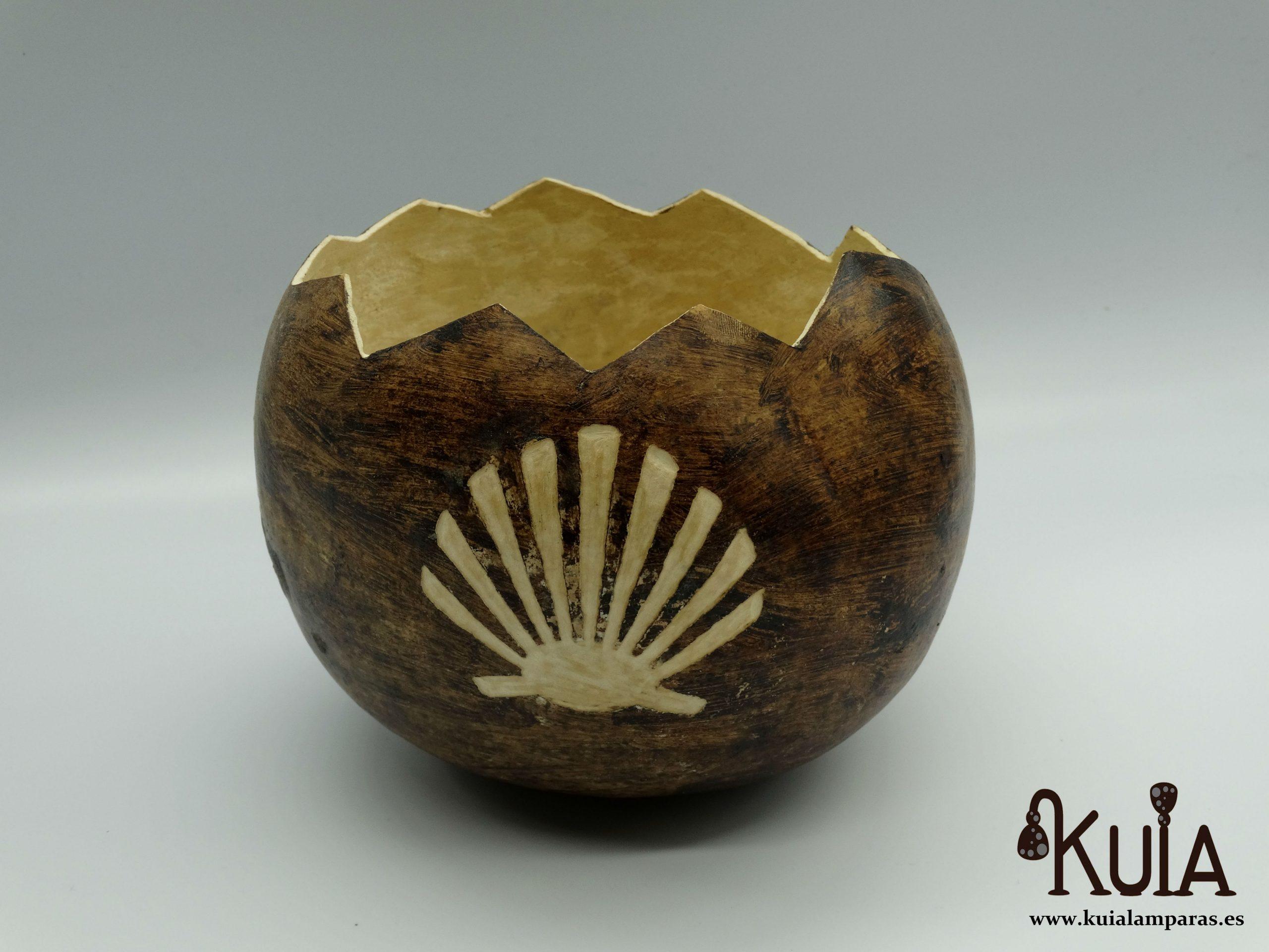 concha del peregrino tallada en calabaza