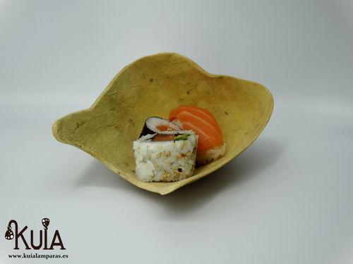 plato natural de madera de calabaza
