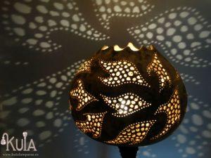 lampara artesanal de calabaza sua