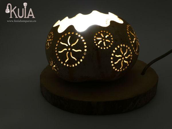 lampara artesana de sobremesa rode