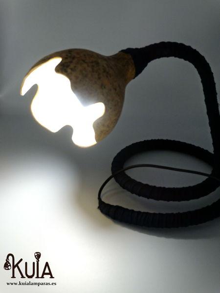 lampara artesana arrunt