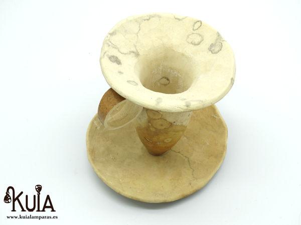 taza para decoracion de madera de calabaza