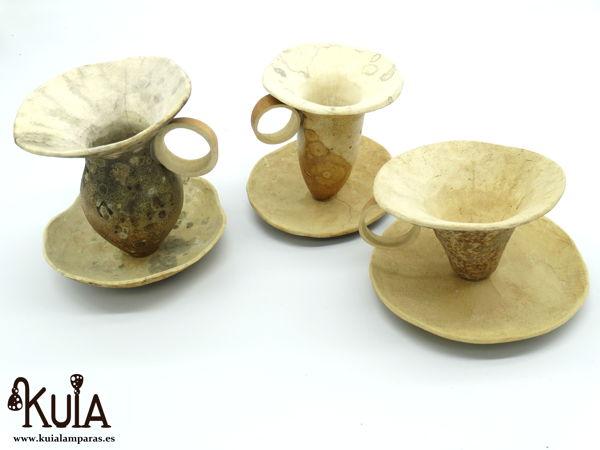 tazas para decoracion de madera de calabaza