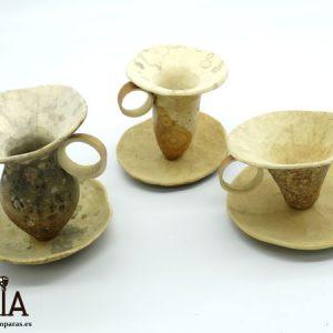 tazas artesanas de madera de calabaza