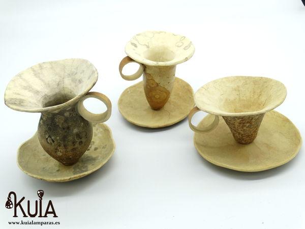 tazas artesanales de madera de calabaza