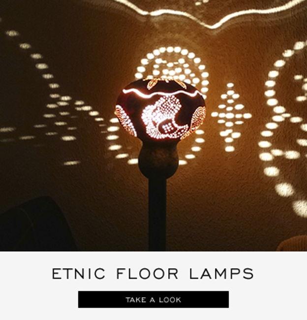 etnic floor lamps