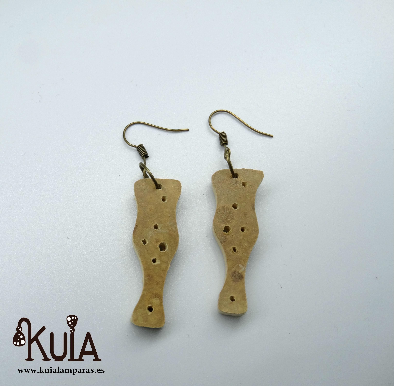 pendientes artesanales de madera de calabaza (21)