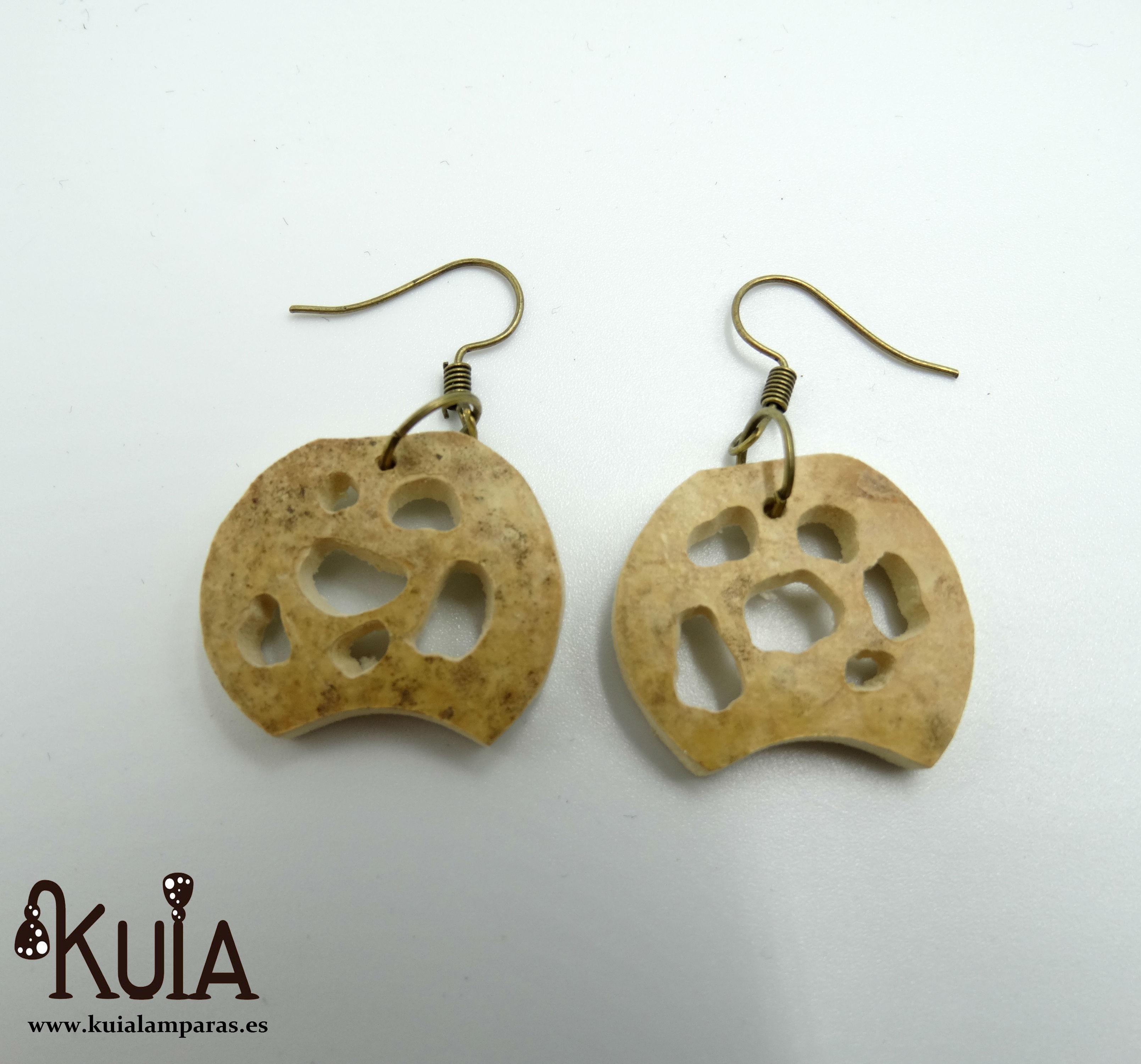 pendientes artesanales de madera de calabaza (5)