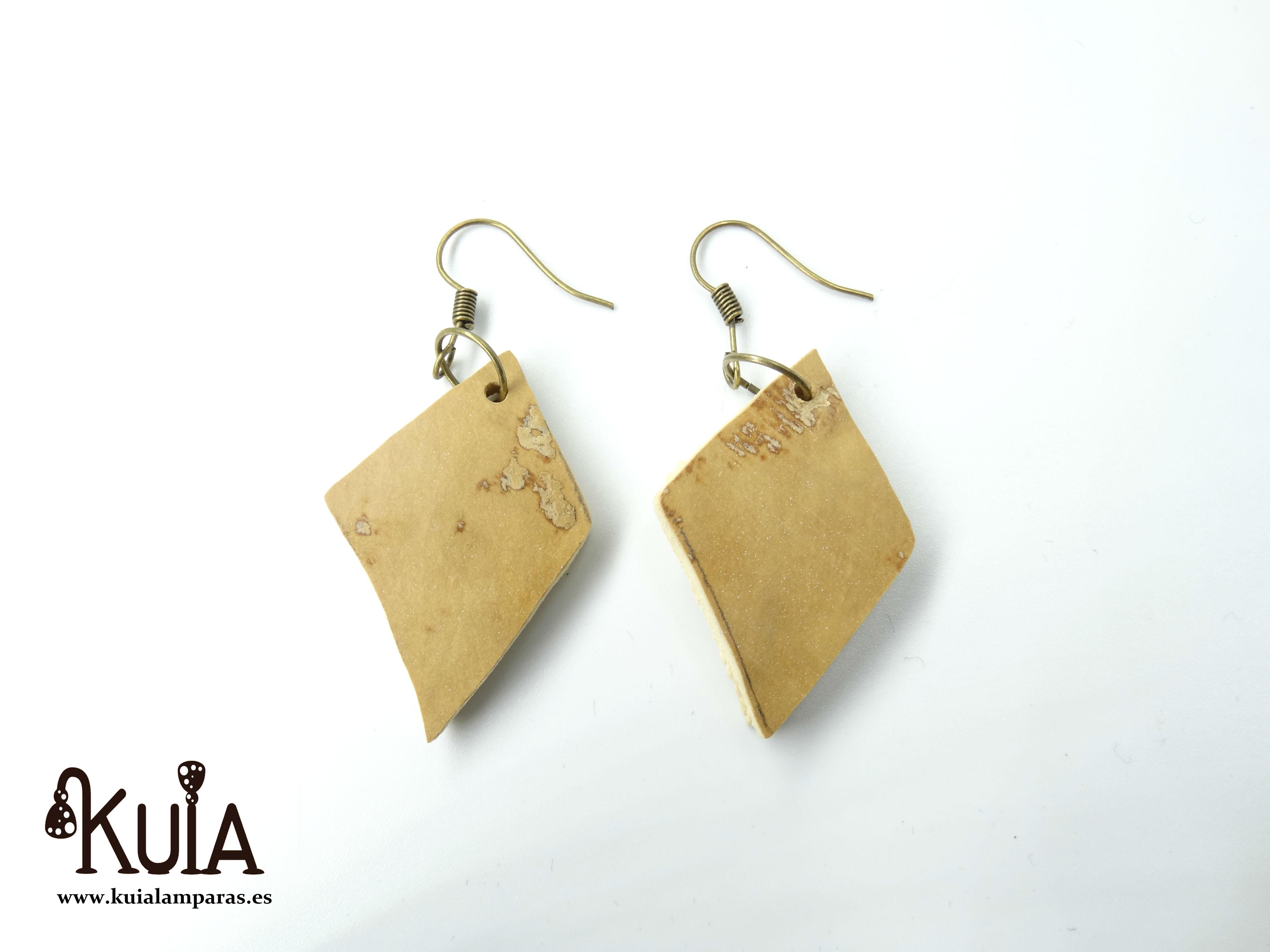pendientes artesanales de madera de calabaza (8)
