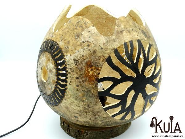 Lámpara natural de mesita usuar