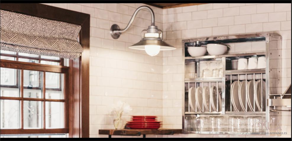 una iluminación para cocinas modernas