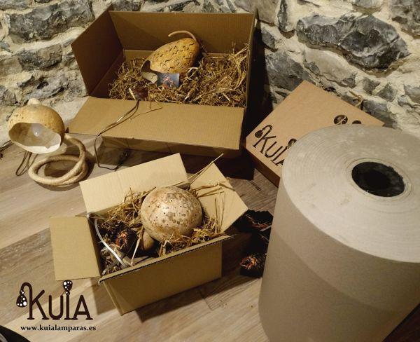 Cajas de envio con acolchado de paja